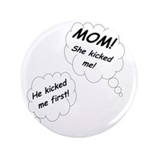 "Sibling Rivalry - boy girl twins - bla 3.5"" Button"