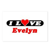 I Love Evelyn Postcards (Package of 8)