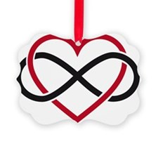 Infinity heart, never ending love Ornament