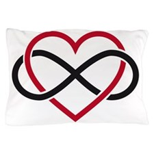 Infinity heart, never ending love Pillow Case