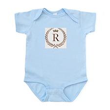 Napoleon initial letter R monogram Infant Creeper