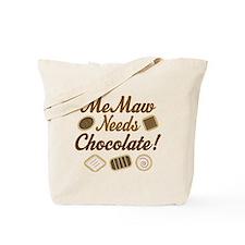 MeMaw Chocolate Tote Bag
