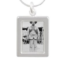 Pancho Villa Silver Portrait Necklace