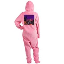 PIRATE RADIO Alien Invasion Crescen Footed Pajamas