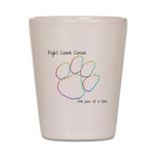 Canine Cancer Paw Shot Glass