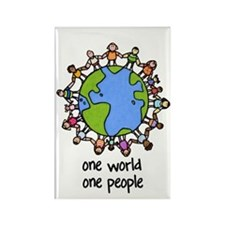 one world,one people Rectangle Magnet