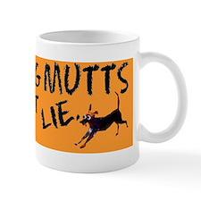 rescue dog bumper sticker Small Mug