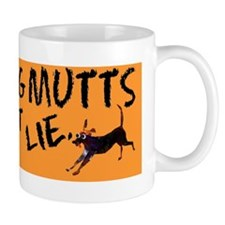 rescue dog bumper sticker Small Mugs