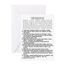 Bacon List Greeting Card