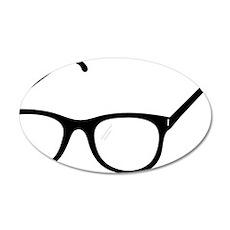 Eye Glasses 35x21 Oval Wall Decal