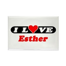 I Love Esther Rectangle Magnet