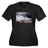 Tornado Fury Women's Plus Size V-Neck Dark T-Shirt