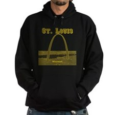 StLouis_12x12_GatewayArch_yellow Hoodie
