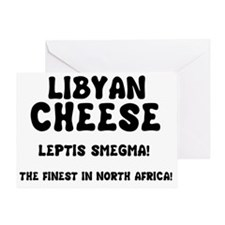 LIBYAN CHEESE - LEPTIS SMEGMA Greeting Card