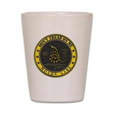 Dont Tread On Me (Yellow/Grey) Shot Glass