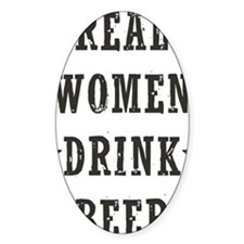 Real Women Drink Beer Decal