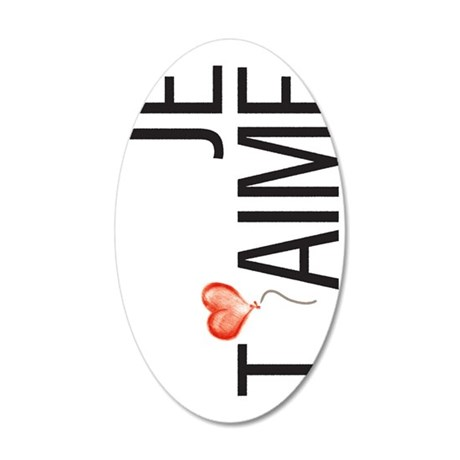 Je Taime 35x21 Oval Wall Decal