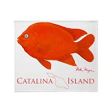 Garibaldi Catalina Island Throw Blanket