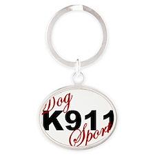 K911 DOG SPORTS Oval Keychain