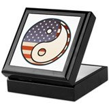 Patriotic Flag Yin & Yang Keepsake Box