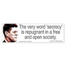 JFK Secrecy Quote Bumper Bumper Sticker