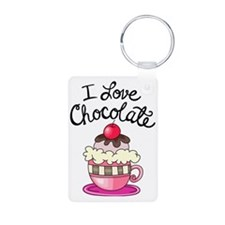 I Love Chocolate Keychains