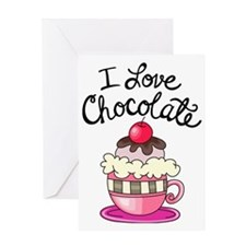 I Love Chocolate Greeting Card