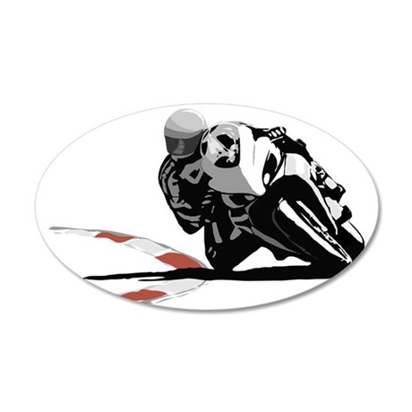 Track Rider 35x21 Oval Wall Decal