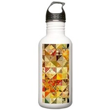 Fun Patchwork Quilt Water Bottle
