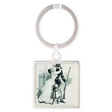 Goodbye by Charles Reed Square Keychain
