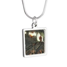 Tunnel Vision  Silver Square Necklace
