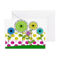 Retired Nurse pillow 2 2013 Greeting Card