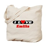 I Love Emilia Tote Bag