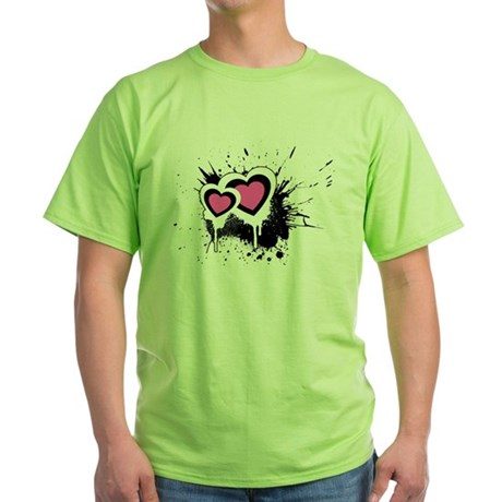 Exploding hearts Green T-Shirt