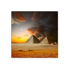 "Great Pyramids of Giza Square Sticker 3"" x 3"""