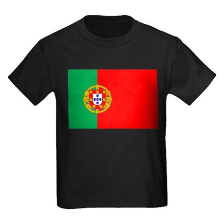 Portuguese Flag of Portugal Kids Dark T-Shirt
