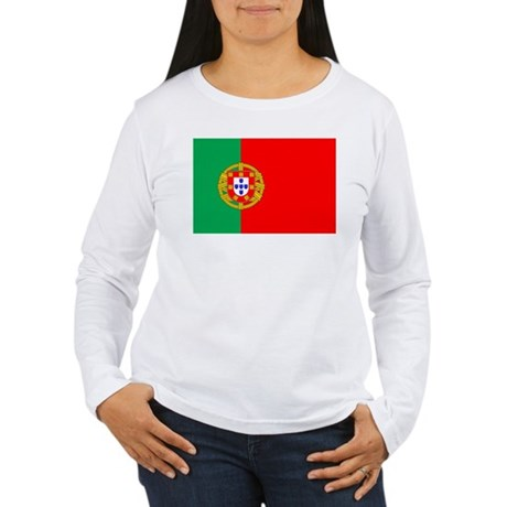 Portuguese Flag of Portugal Women's Long Sleeve T-