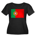 Portuguese Flag of Portugal Women's Plus Size Scoo