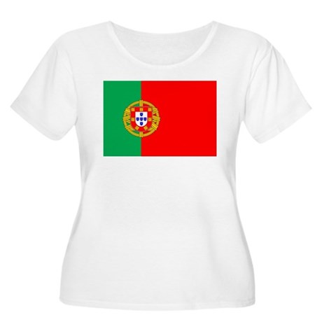 Portuguese Flag of Portugal Women's Plus Size Scoo