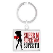 Super Mom Landscape Keychain