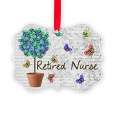 Retired Nurse Pillow 7 butterflie Ornament