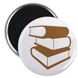 Stack Of Brown Books Magnet