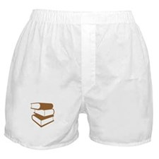 Stack Of Brown Books Boxer Shorts