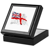 Royal Navy Insignia Flag Keepsake Box