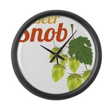 Beer Snob Large Wall Clock