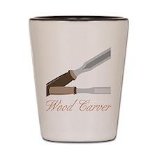 Wood Carver Shot Glass