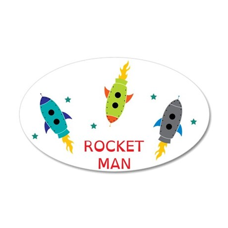 Rocket Man 35x21 Oval Wall Decal