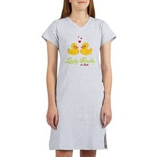 Lucky Ducks In Love Women's Nightshirt