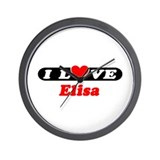 I Love Elisa Wall Clock