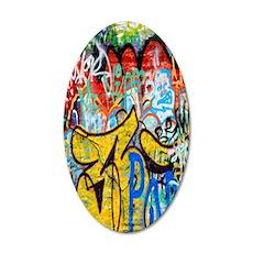Colorful Graffiti Kindle Sle 35x21 Oval Wall Decal